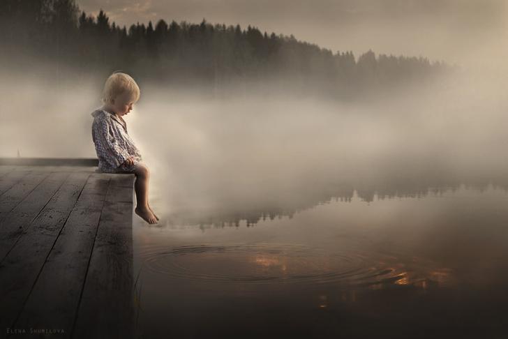 Çocuk Göl Fotoğraf İskele