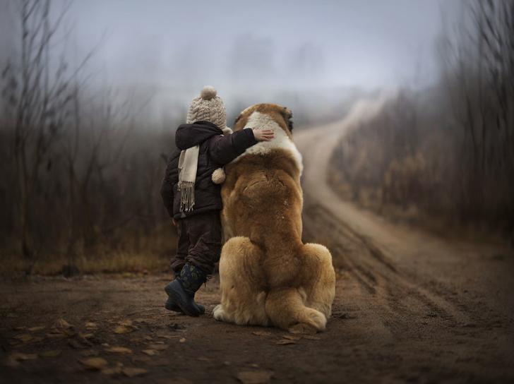 Çocuk Köpek Fotoğraf 2