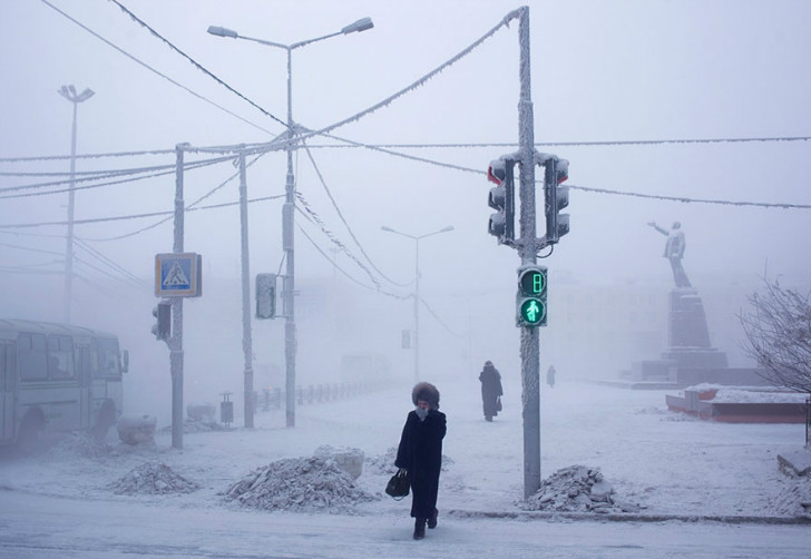 soğuktan buz tutan şehir