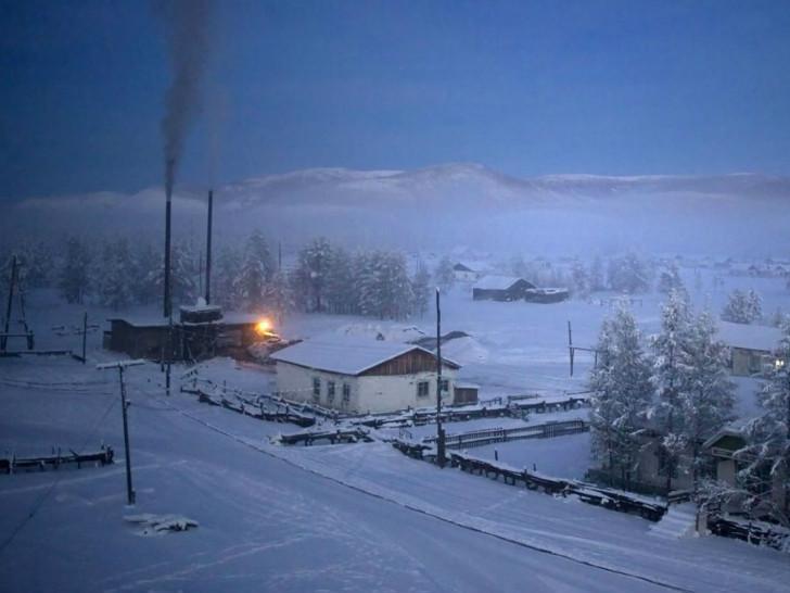 Köyü ısıtan kömür ısıtma tesisi