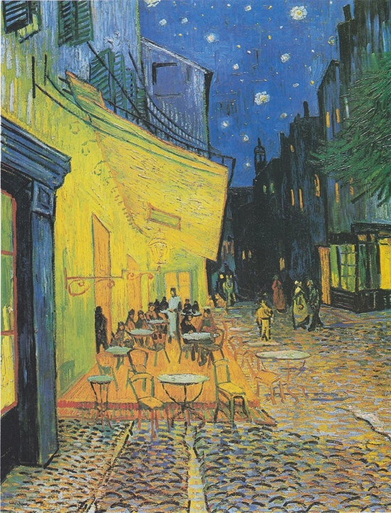 Café Terrace at Night, 1888, Tuval Üzerine Yağlıboya, 80.7 x 65.3 cm, Kröller-Müller Müzesi, Otterlo, Hollanda