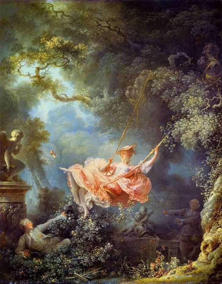 Fragonard salincak tablosu