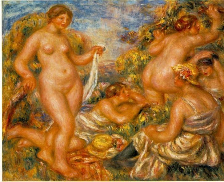 Les Baigneuses, Pierre Auguste Renoir