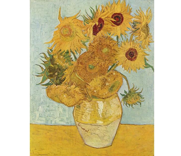 Vazoda On İki Ayçiçeği, Vincent Van Gogh