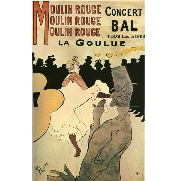 Moulin Rouge-La Goulue, Henri Toulouse Lautrec