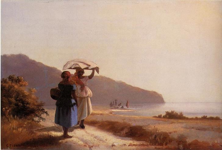 Denize Karşı Sohbet Eden İki Kadın, Camille Pissarro