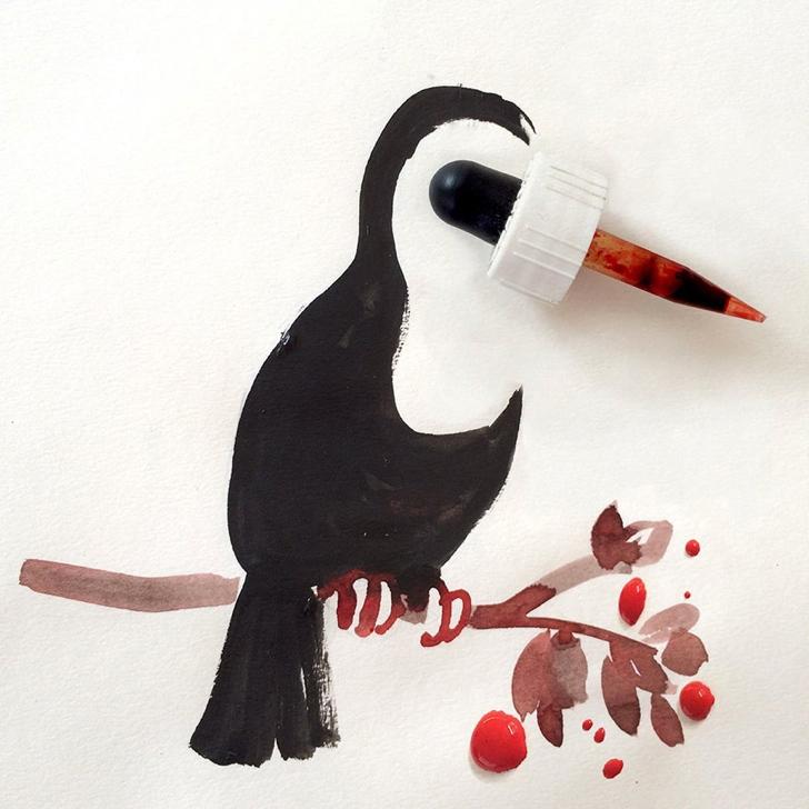 çizim yaratıcı sanat kuş