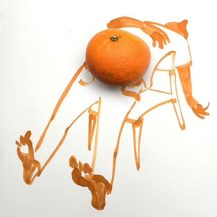 çizim yaratıcı sanat portakal