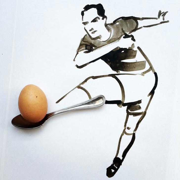 çizim yaratıcı sanat yumurta