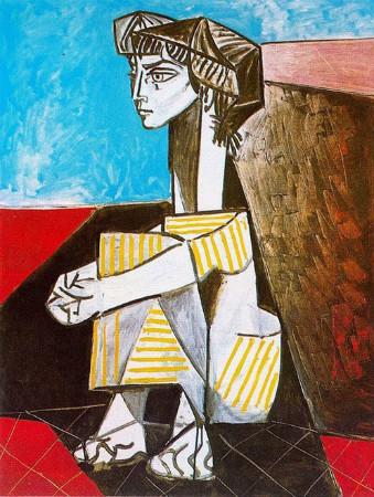 Jacqueline Roque Portresi 1954