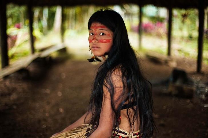 amazon yağmur ormanları kadın fotoğraf