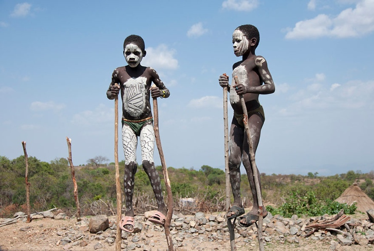 etiyopya çocuklar fotoğraf
