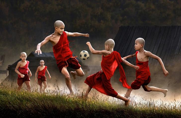 myanmar çocuklar fotoğraf