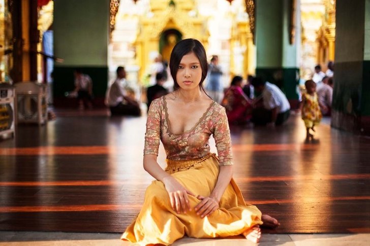 myanmar kadın fotoğraf