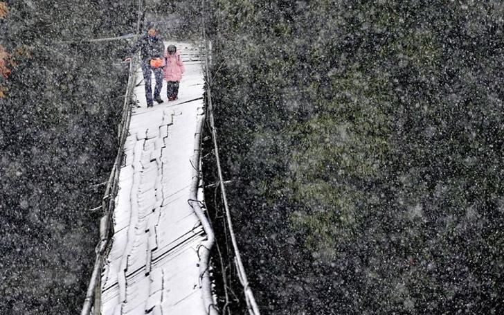 okula giden çocuklar köprü çin