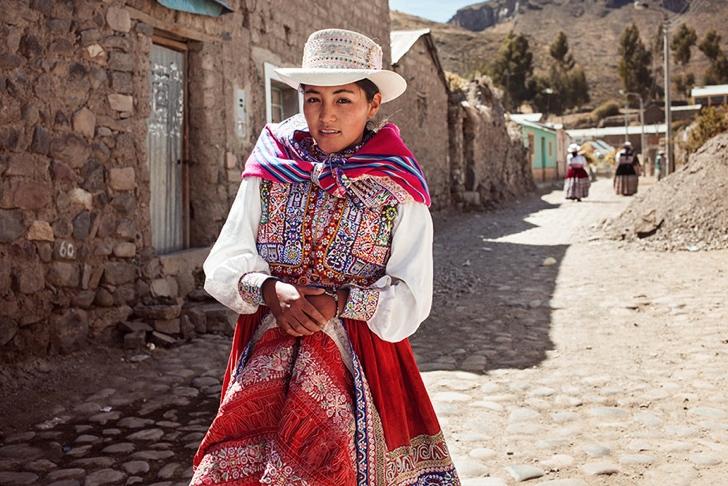 peru kadın fotoğraf
