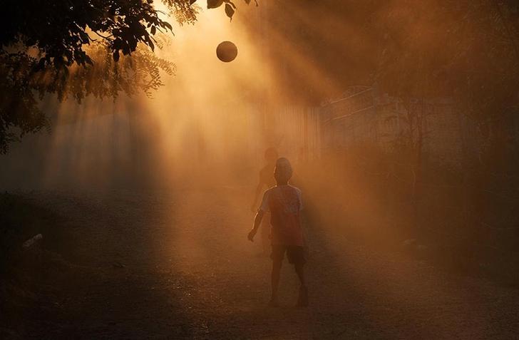 romanya çocuklar fotoğraf futbol