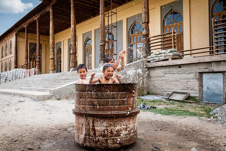 tacikistan çocuklar fotoğraf