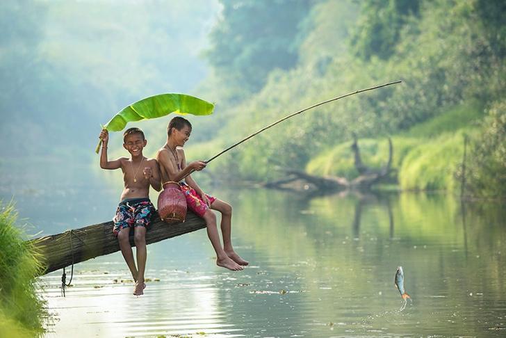 tayland çocuklar fotoğraf