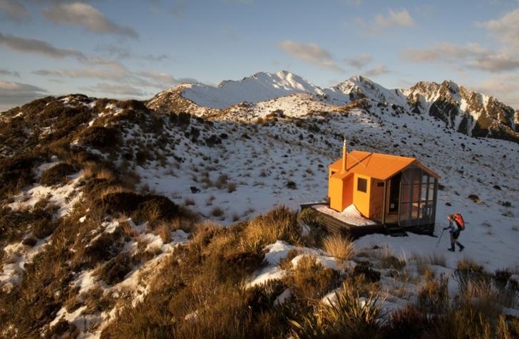 yeni zelanda dağları kulübe ev