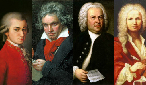 klasik müzik bestecileri, mozart, beethoven, bach, vivaldi