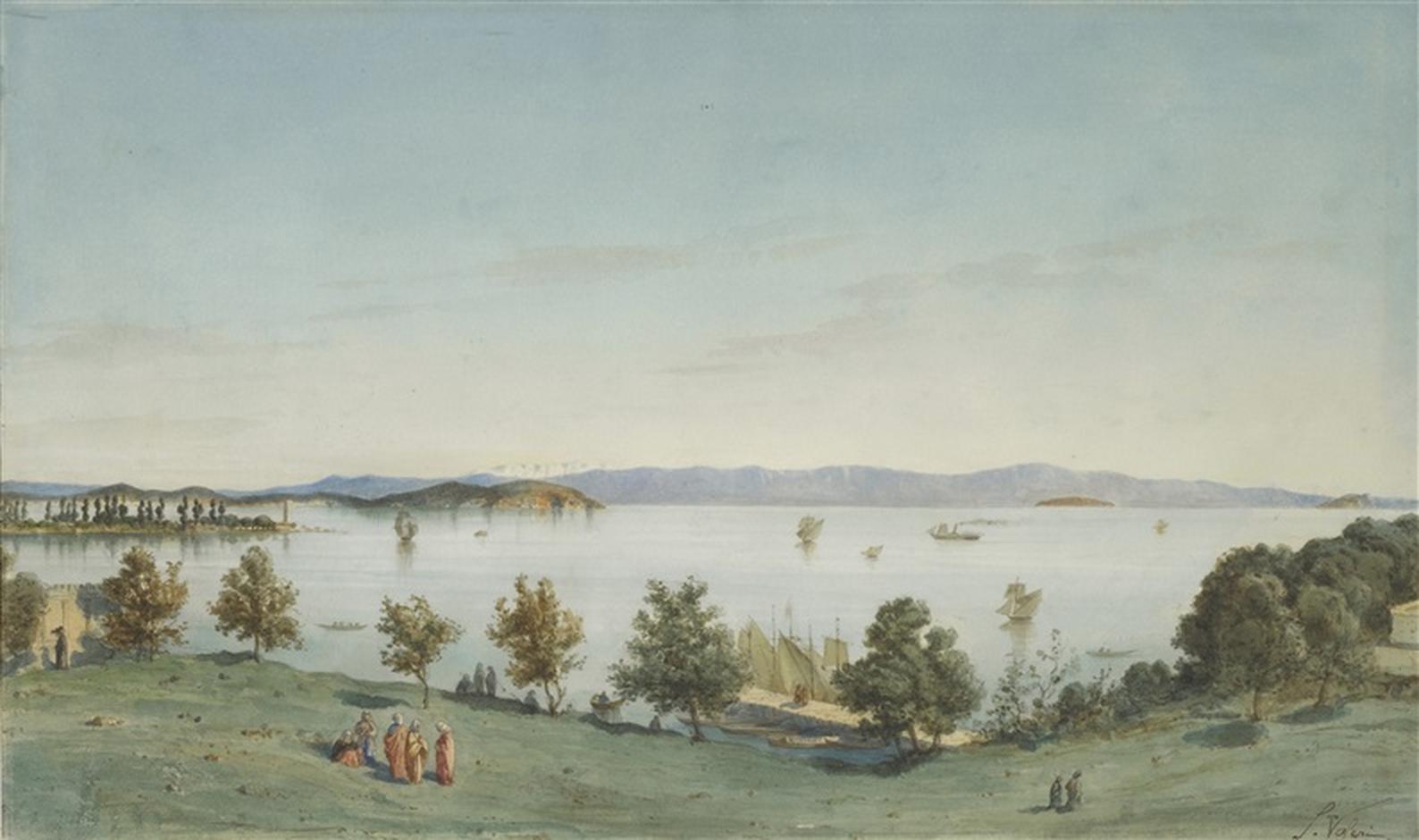 Salvatore Valeri Fenerbahçe Sahili'nden Prens Adaları Manzarası