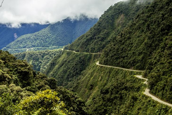 kuzey yungus yolu bolivya
