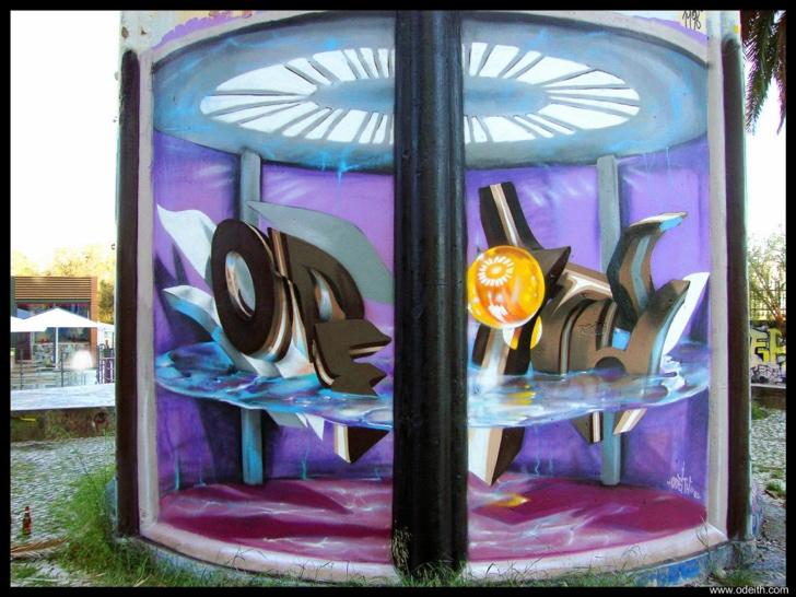 graffiti fotoğraf sanatı 3 boyutlu