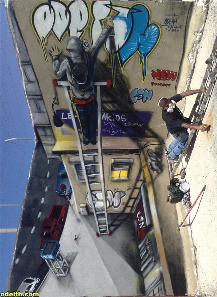 graffiti fotoğraf sanat 3 boyutlu