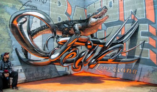 graffiti timsah fotograf sanat