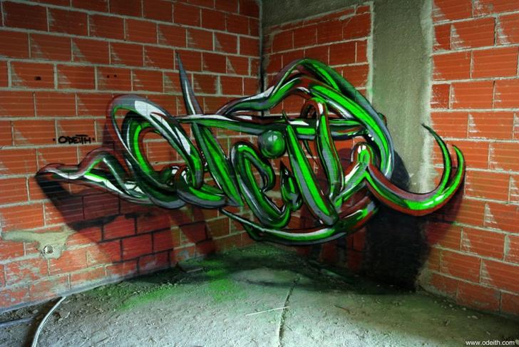 graffiti yeşil yazı fotoğraf sanat