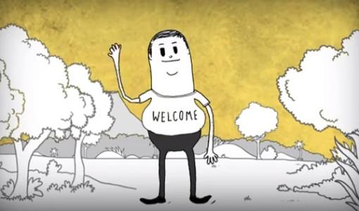 man animasyon video insanlık ayıbı