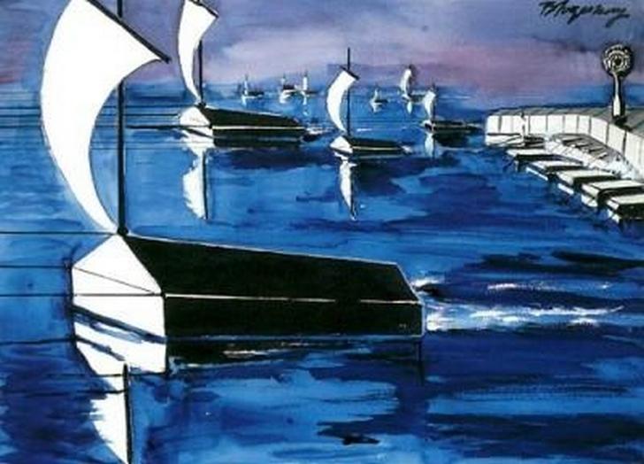 silent ships - burhan doğançay
