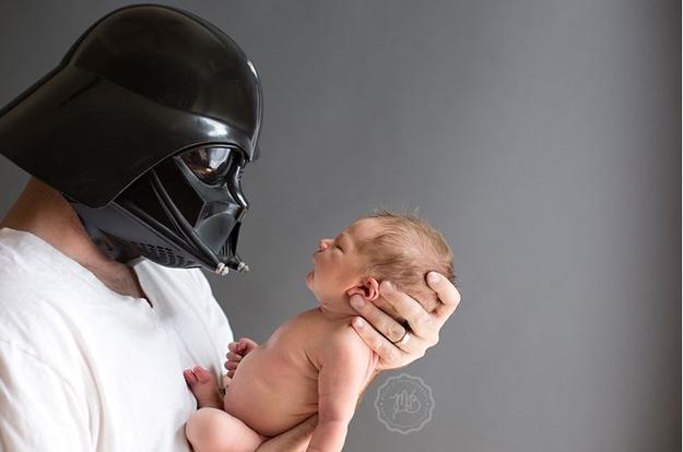 star wars darth vader bebek fotoğrafı