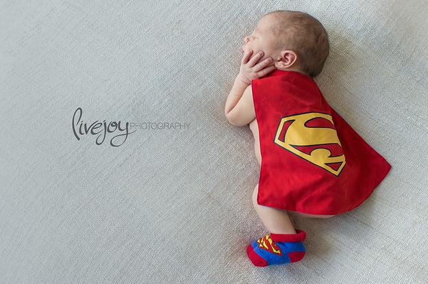 superman bebek fotoğrafı