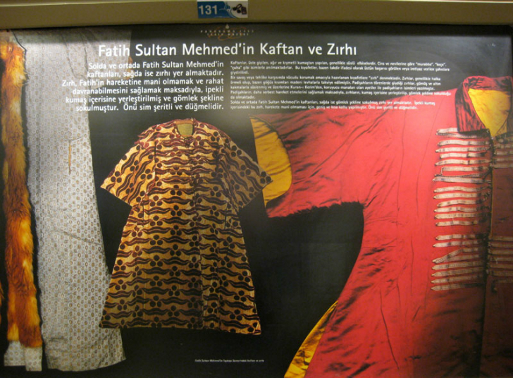fatih sultan mehmet kaftan