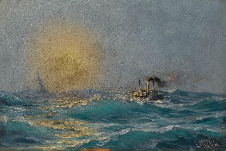Bahriyeli İsmail Hakkı Bey - Fırtınada Gemi