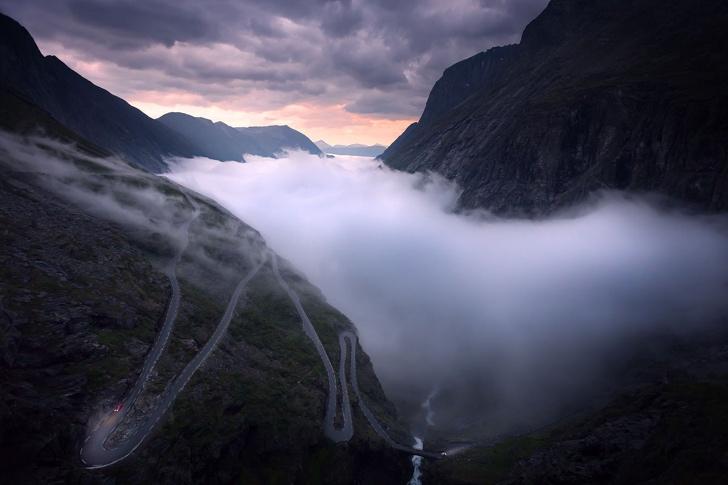trollstigen norveç dağ yolu