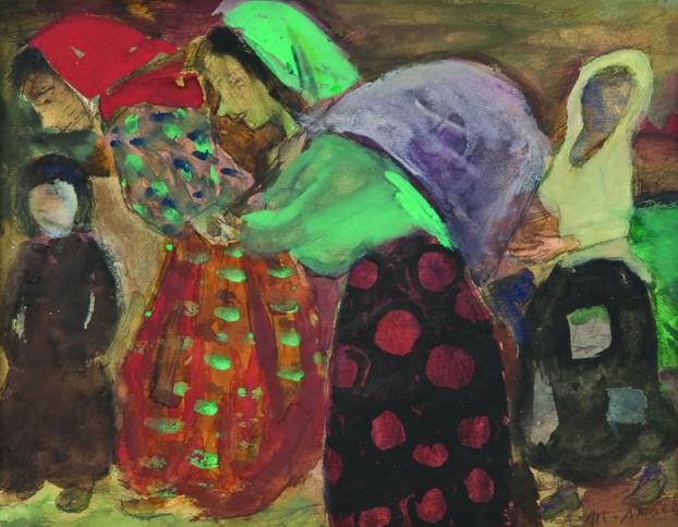 malik aksel küfe taşıyan kadınlar