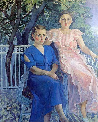 ibrahim çallı balkonda oturan kadınlar tablosu