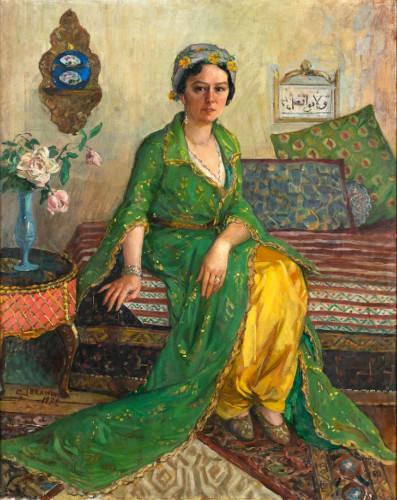 ibrahim-calli-yeşil-elbiseli-kadın-Bayan-Vicdan-Moralının-Portresi