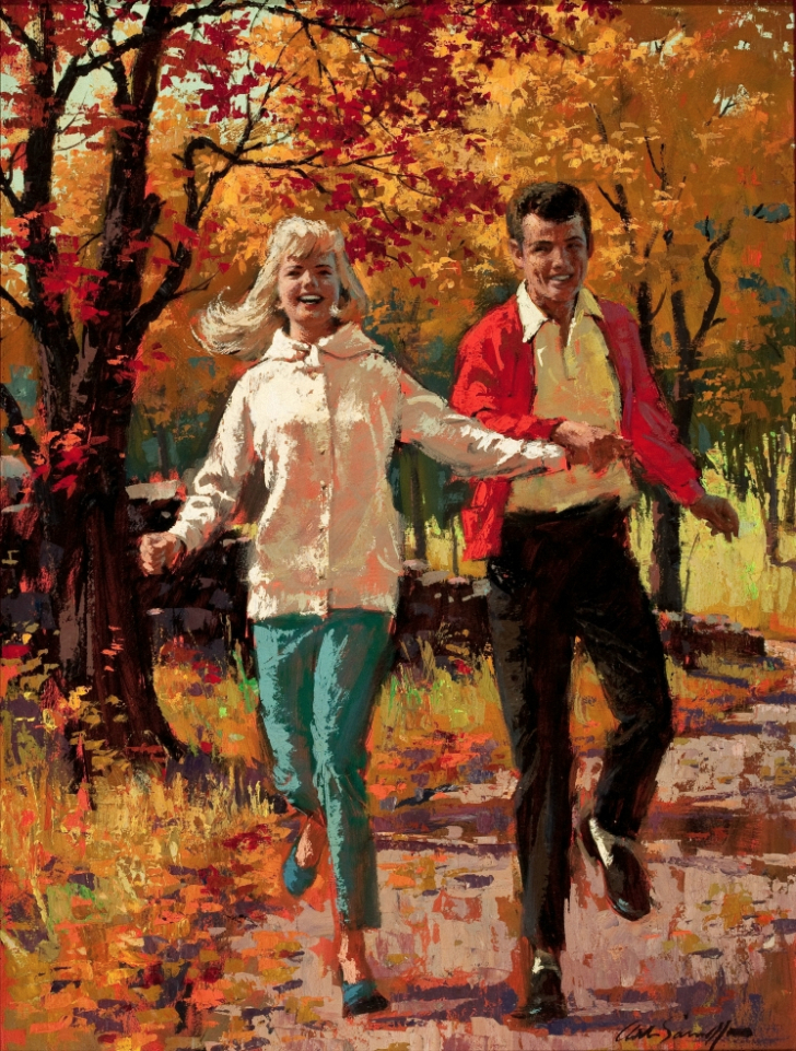 Arthur Sarnoff - Couple In The Autumn Woods
