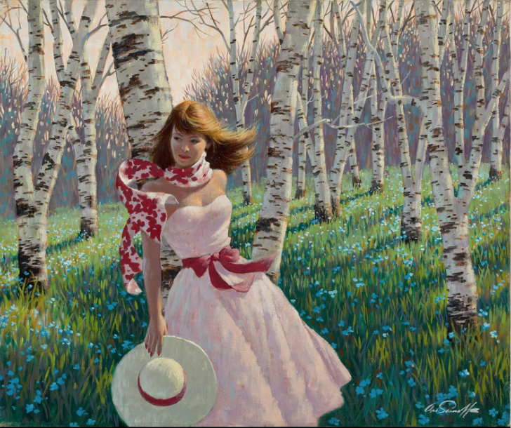 Arthur Sarnoff - Quite a beauty strolling among the birch trees