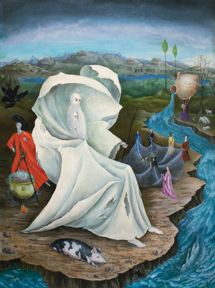 Leonora Carrington, the temptation of st anthony, sürrealist ressam