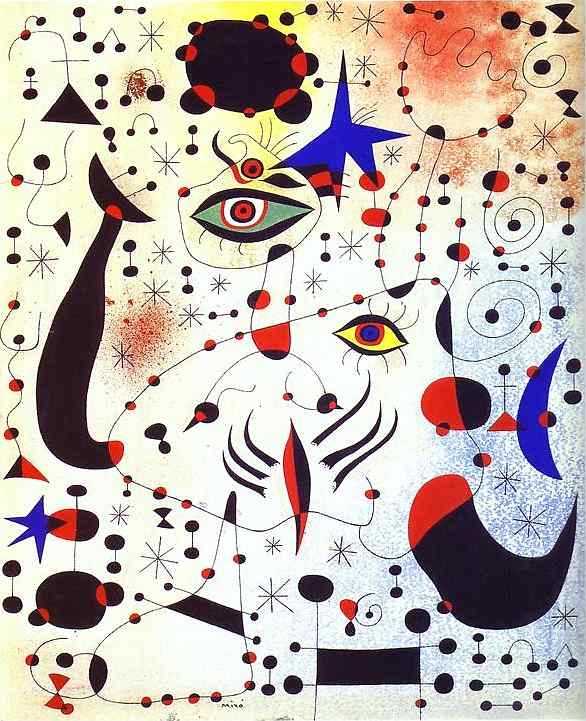 joan miro, Ciphers and Constellations, in Love with a Woman, sürrealist ressamlar