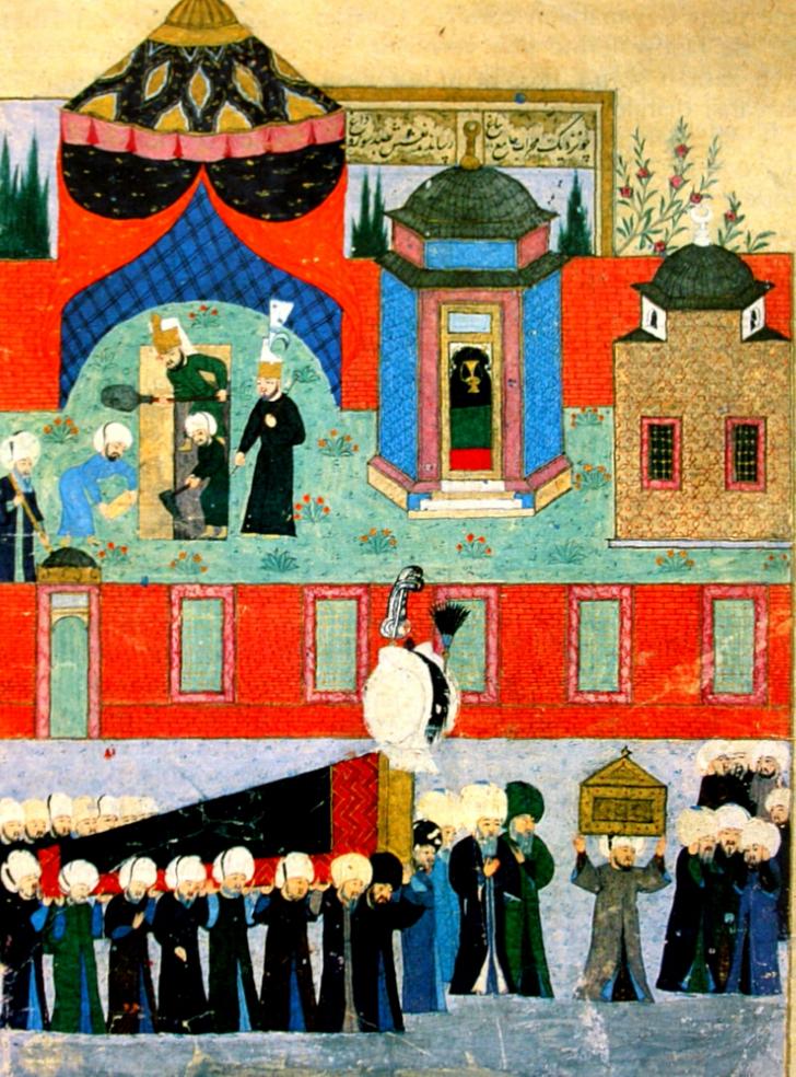 kanuni sultan süleyman cenaze minyatür, kanuni sultan süleyman kimdir, muhteşem süleyman
