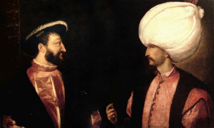 kanuni sultan süleyman fransa kralı fransuva tablo