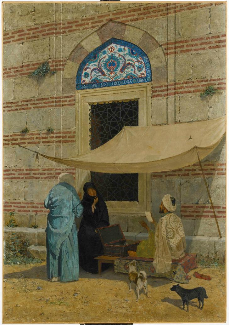 osman hamdi bey cami önünde arzuhalci