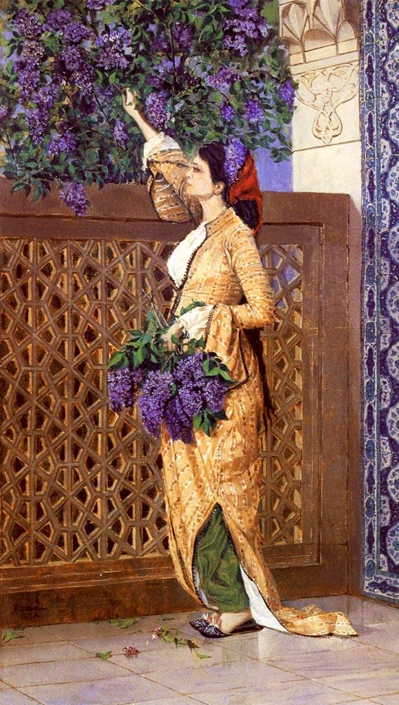 osman hamdi bey leylak toplayan kız