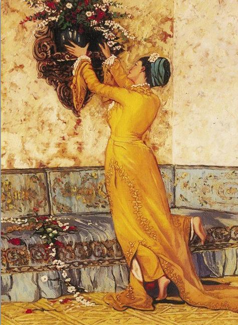 osman hamdi bey vazo yerleştiren kız